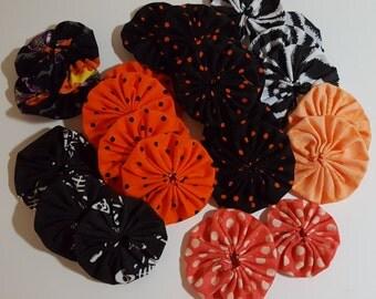 Halloween Yo Yos  for crafting - black, orange