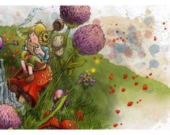 Gnomes and Sprites Digital Print