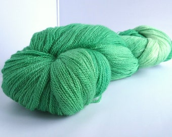 CLEARANCE...REDUCED...Fields of Green hand dyed extra fine merino and silk laceweight yarn