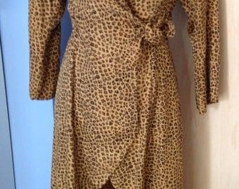 Silk Leopard Robe