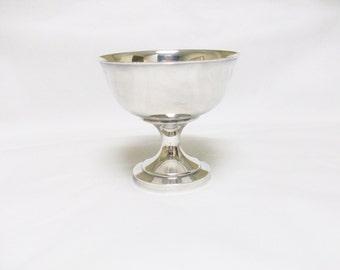 Wm A Rogers Pedestal Silver Dish  //
