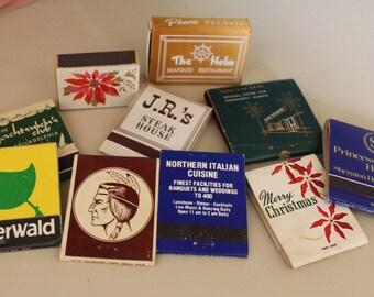 Assortment of Vintage Matchbooks, Vintage Matchbook Collection, Philadelphia Matchbooks, Christmas Matchbooks