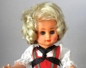 "Vintage 10.5"" German Doll - Vintage Costume Doll - 1950's Doll - Old German Doll"