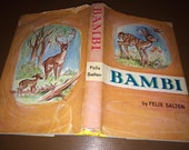 Bambi Felix Salten Illustrated Girard Goodenow 1958 Hardback Book USA 190 pages