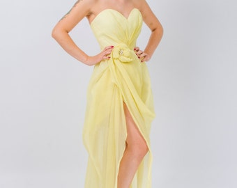 Alma yellow dress