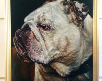 Custom Pet Black Velvet Portrait -  30 x 40in