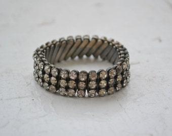 1950s Stretch Rhinestone Bracelet