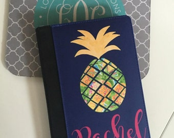 Personalized iPad 2/ iPad 3 / iPad Air Folio Case Cover Design your Own Pineapple Cover - Personalized iPad mini Case tablet Stand