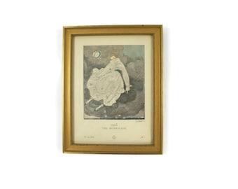 "Georges Lapape Paris Print / Art Deco Lithograph Print/ ""The Hurrican"" Framed Print/ C1915"