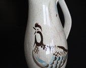 Red Wing Bob White Large Pitcher Quail Bird Ice Lip Excellent Condition