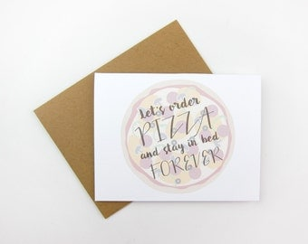 Let's Order Pizza: Love / Like / Anniversary Card