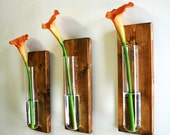 Wall decor, Rustic wall decor, Farmhouse, Farmhouse kitchen, Glass beaker, Summer home decor, Home decor, flower stem vase, Calla Lily vase