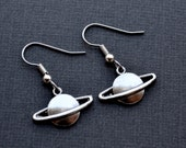 Silver Saturns . Earrings