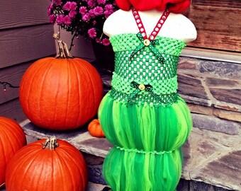 Girls The Hungry Caterpillar Inspired Tutu Dress Halloween Costume (Newborn - 5T)