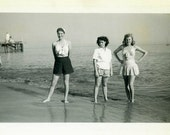 """Vintage Photo """"Beth, Betty Lou and Brittany"""" Snapshot Old Antique Photo Black & White Photograph Found Paper Ephemera Vernacular - 173"""