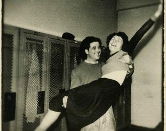 "Vintage Photo ""Locker Room Celebration"" Snapshot Photo Old Antique Photo Black & White Photograph Found Paper Ephemera Vernacular - 80"