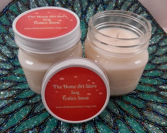 Festive Snow Soy Candle