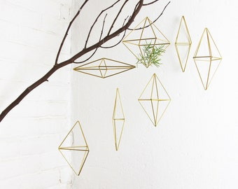 Set of 7 Brass geometric Ornaments