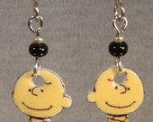 Charlie Brown Dangle Earrings - Peanuts Jewelry - Chuck