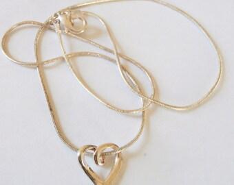 Sterling Heart Necklace Set