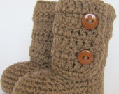 Baby Ankle Boots -Crochet Baby Booties- baby shower- baby gift