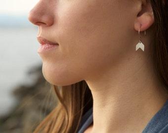 Baby Chevron Earrings in Sterling Silver