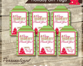 Holiday Gift Tags - Printable Gift Tag - Teacher Gift Tags - Hanging Gift Tags - Personalized - Gift Tags - Christmas Tags