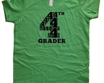 Fourth Grade Tshirt - 4th Grader Shirt - Boys or Girls Back to School First Day of School Tshirt Top Tee - School Clothes - 4th Grader