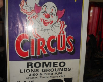 """Circus Poster Authentic Used Advertising Art Vintage """"Kelly Miller"""" Circus Collectible"""