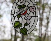 Stained Glass Bird Panel/Reserved for Deanna