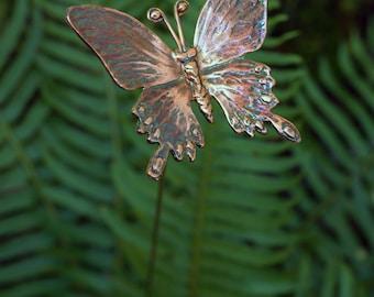 Copper Butterfly - Garden Stake