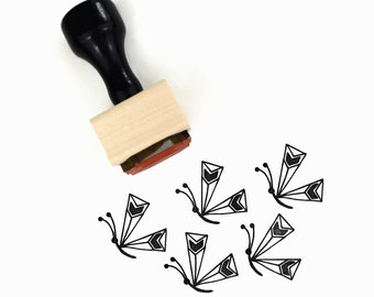 Rubber Stamp Butterfly - Hand Drawn Spring Butterfly - Wood Mounted Stamp