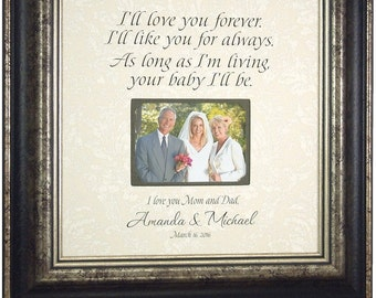 Wedding Gift For Parents, Wedding Decoration, 16x16 overall with 4x6 photo