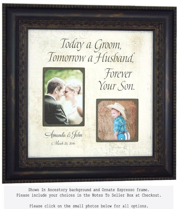 PARENTS THANK YOU, Personalized Picture Frames, Groom, Wedding Sign, Photo Frames, Today A Groom, 16 X 16