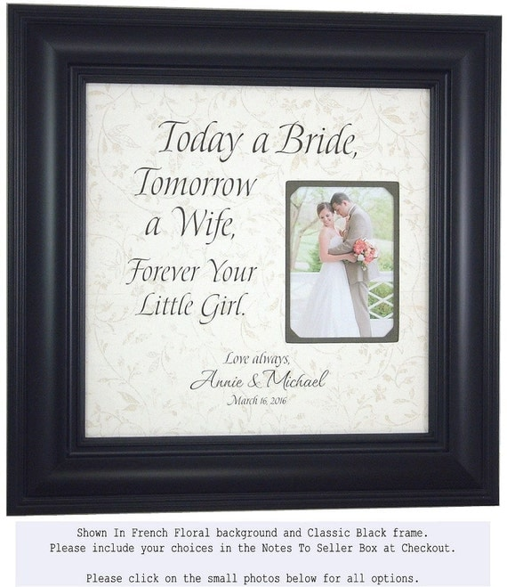 Father of the Bride Gift, Father of the Bride, Father of the Bride Frame, Personalized Wedding Frame, TODAY A BRIDE 16x16