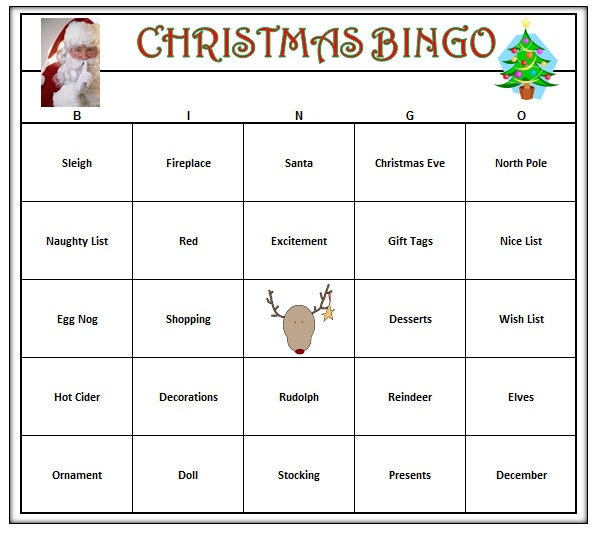 Christmas Party Bingo Game 60 Cards Christmas Holiday Bingo