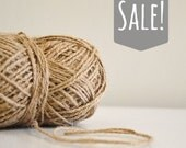 Jute Twine in Camel Brown / burlap rustic string / Yarn for crafting, knit, crochet, gift wrap, packing,