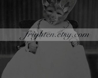 Creepy Halloween Art, Vampire Bat Art, Black and White 8.5 x 11 Inch Print, Collage Print, Oddities, Horror Decor, Halloween Decor