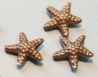 Hiltribe Copper Starfish Bead - 20mm - Sold Per Piece