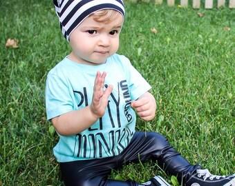 Faux Black Faux Vegan Leather Leggings - Leather Baby Leggings - Leather Leggings - Toddler Leggings - Trendy Toddler