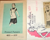 Anne Adams Pullover Cobbler Tunic Apron Womens Misses Vintage 1970s Mail Order Sewing Pattern 4835 Size 12-14 Bust 34-36 Uncut Factory Folds