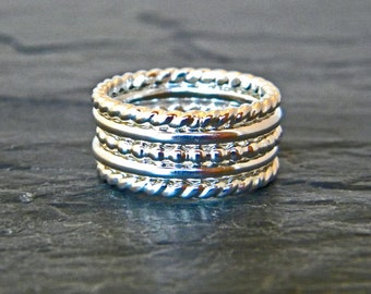 Gift for Her - Thick Silver Ring - Big Silver Ring - Thick Stacking Ring Silver - Large Ring - Big Stacking Ring - Womens Gift - Size 6 - 15