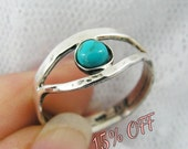Turquoise ring. Sterling silver ring. Silver turquoise ring. Eye of ra ring. Egyptian ring.(sr-9628) Turquoise jewelry, Egyptian jewelry