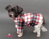 Red and Black Plaid Dog Sweater, 2 Leg and 4 Leg Styles