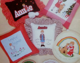 Vintage Sherry Parker Summerfield LITTLE ORPHAN ANNIE By Sabra (Multiple Designs)  - Counted Cross Stitch Pattern Chart Booklet