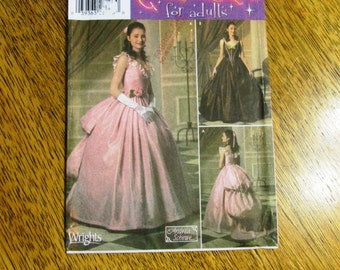 VICTORIAN Fancy Bustle Gown / Designer Phantom of the Opera Dress - CHOOSE Your Size - UNCUT Sewing Pattern Simplicity 4479