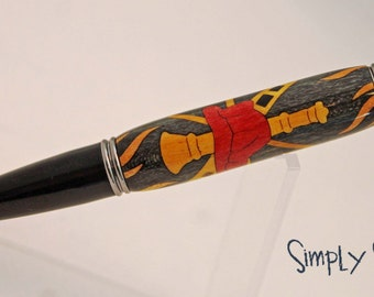 Handturned Pen - A Salute to First Responders - Firefighter
