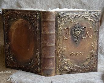 Personalized  Photo Album, Monogrammed photo album, Rustic Wedding Photo Album, family photo album, Wedding Gift,  Vintage Style wedding