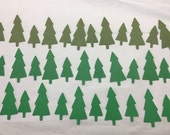 54 Cardstock Trees for Scrapbooking, Christmas Cards, Embellishments Green, Evergreen, Holly Leaf Green