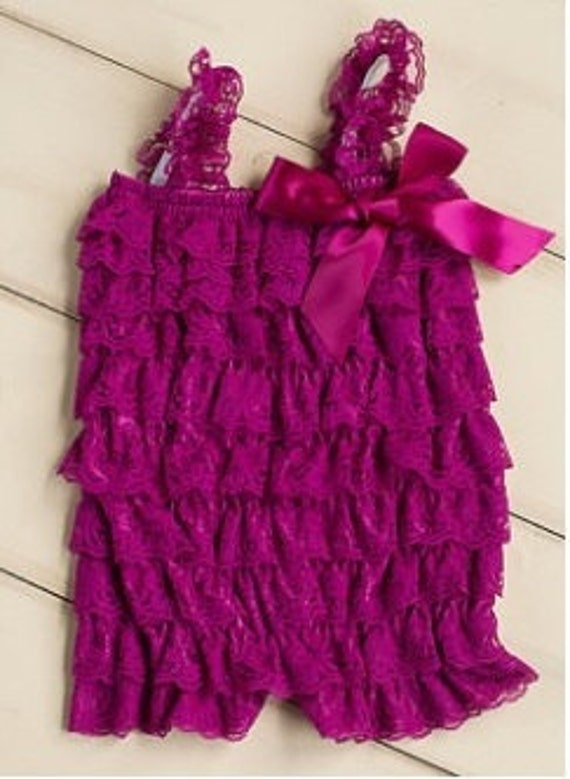 Baby Lace Romper/Raspberry Lace Romper/Ruffle Romper/Petti Lace Romper/Newborn Take Home Outfit/Coming Home Outfit,FAST SHIP,Ready to Ship